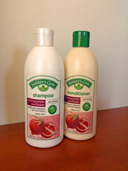 Nature's Gate Pomegranete sunflower shampoo